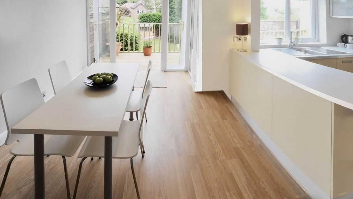 A clean dining room